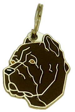 CANE CORSO CROPPED EARS BRINDLE - pet ID tag, dog ID tags, pet tags, personalized pet tags MjavHov - engraved pet tags online